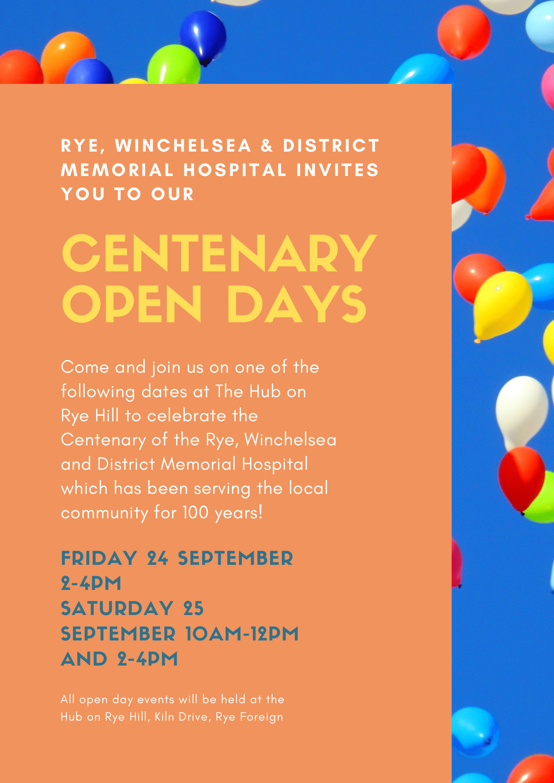 Open Days flyer